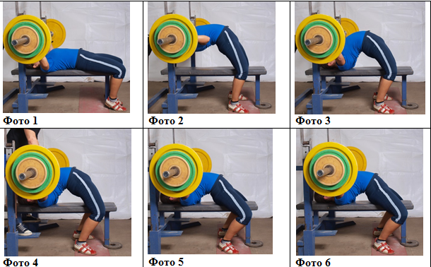 Benchpress technique how to arch your back photo instruction