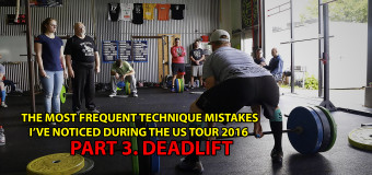 Sheiko US Tour-2016. The most frequent technique mistakes I've noticed. Part 3. Deadlift