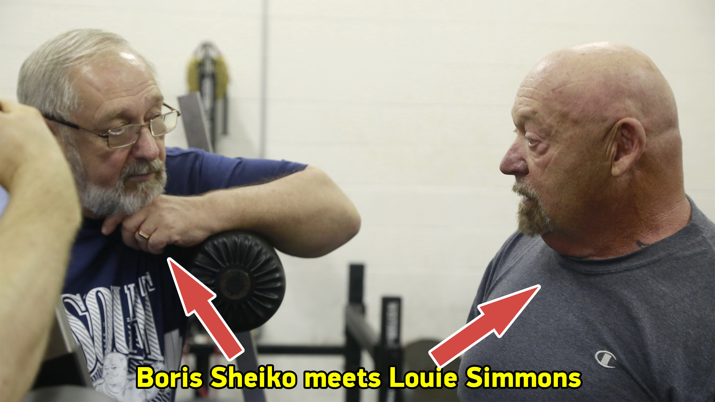 Boris Sheiko meets Louie Simmons, August 17, 2016. Columbus, OH (video)